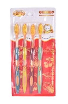 Набор зубных щёток Nano Gold, 4 шт. - фото 5827
