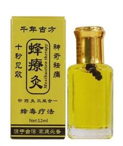 Бальзам жидкие иглы с пчёлкой Чжанцзиутун, 12 мл. - фото 5972