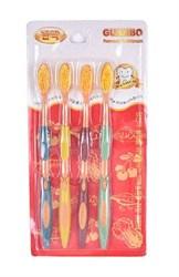 Набор зубных щёток Nano Gold, 4 шт.